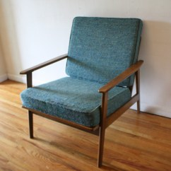 Turquoise Lounge Chair High Covers Australia Mid Century Modern Arm Picked Vintage Mcm With Cushions 3