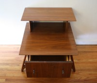 Mid Century Modern Two Tiered Side End Tables | Picked Vintage