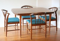 Mid Century Modern Set of Dining Chairs and Table | Picked ...
