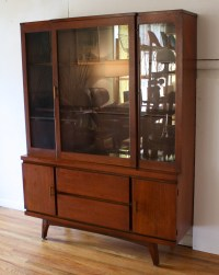 Mid Century Modern China Cabinet Hutch | Picked Vintage