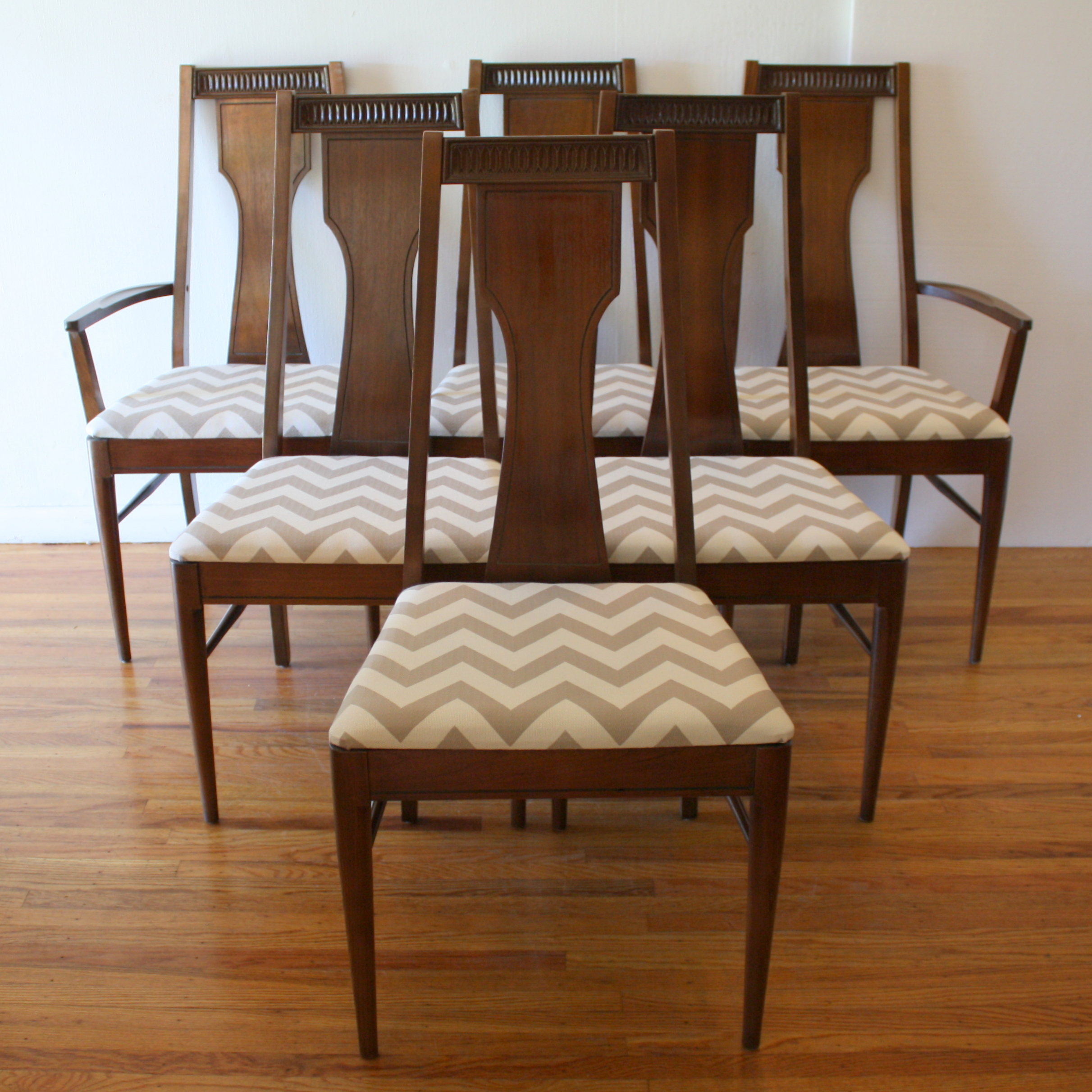 set of dining chairs marble table 8 mid century modern chair sets by broyhill picked