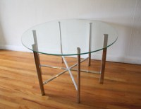Mid Century Modern Glass and Chrome Tables | Picked Vintage