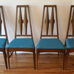 Dining Chair Sets Of 4 High Back With Ottoman Picked Vintage