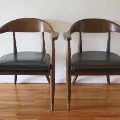 The Chair Company Vintage Leather And Ottoman Mid Century Modern Chairs By Boling