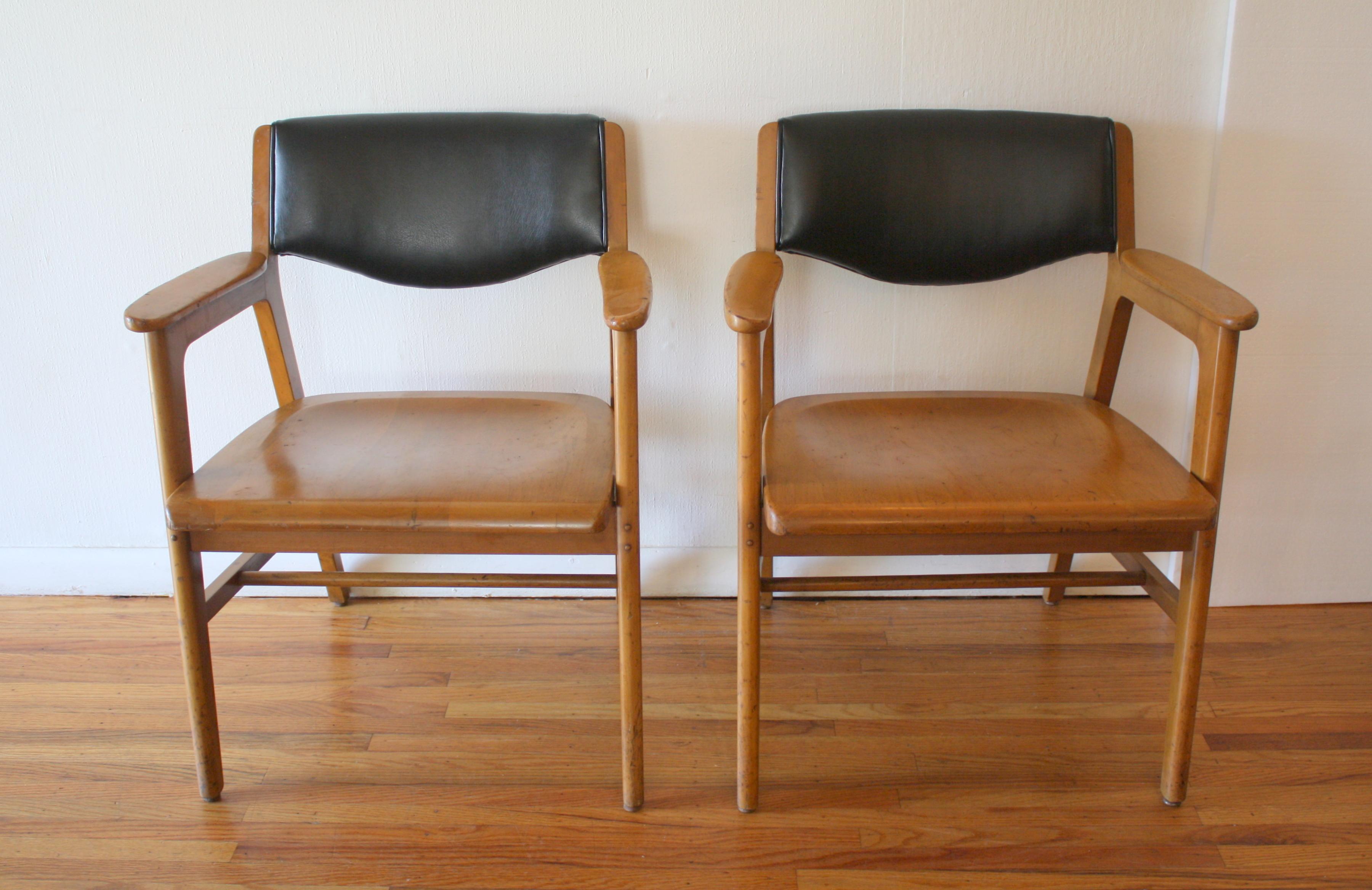 wh gunlocke chair baby trend high naugahyde picked vintage