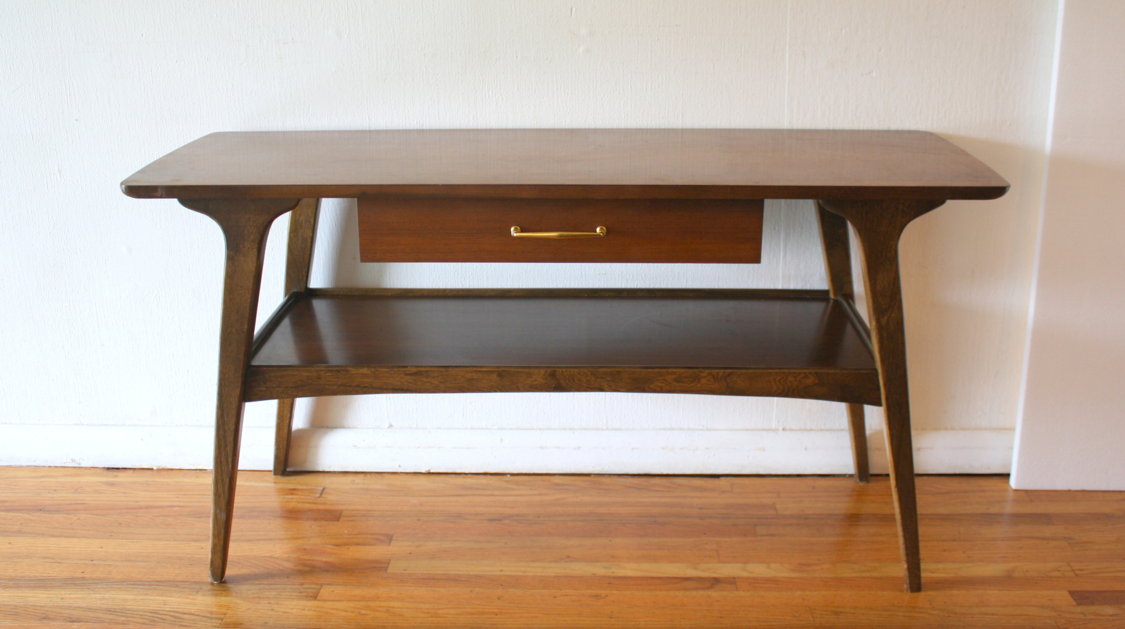 vintage lane sofa table pillows for dark mid century modern console picked