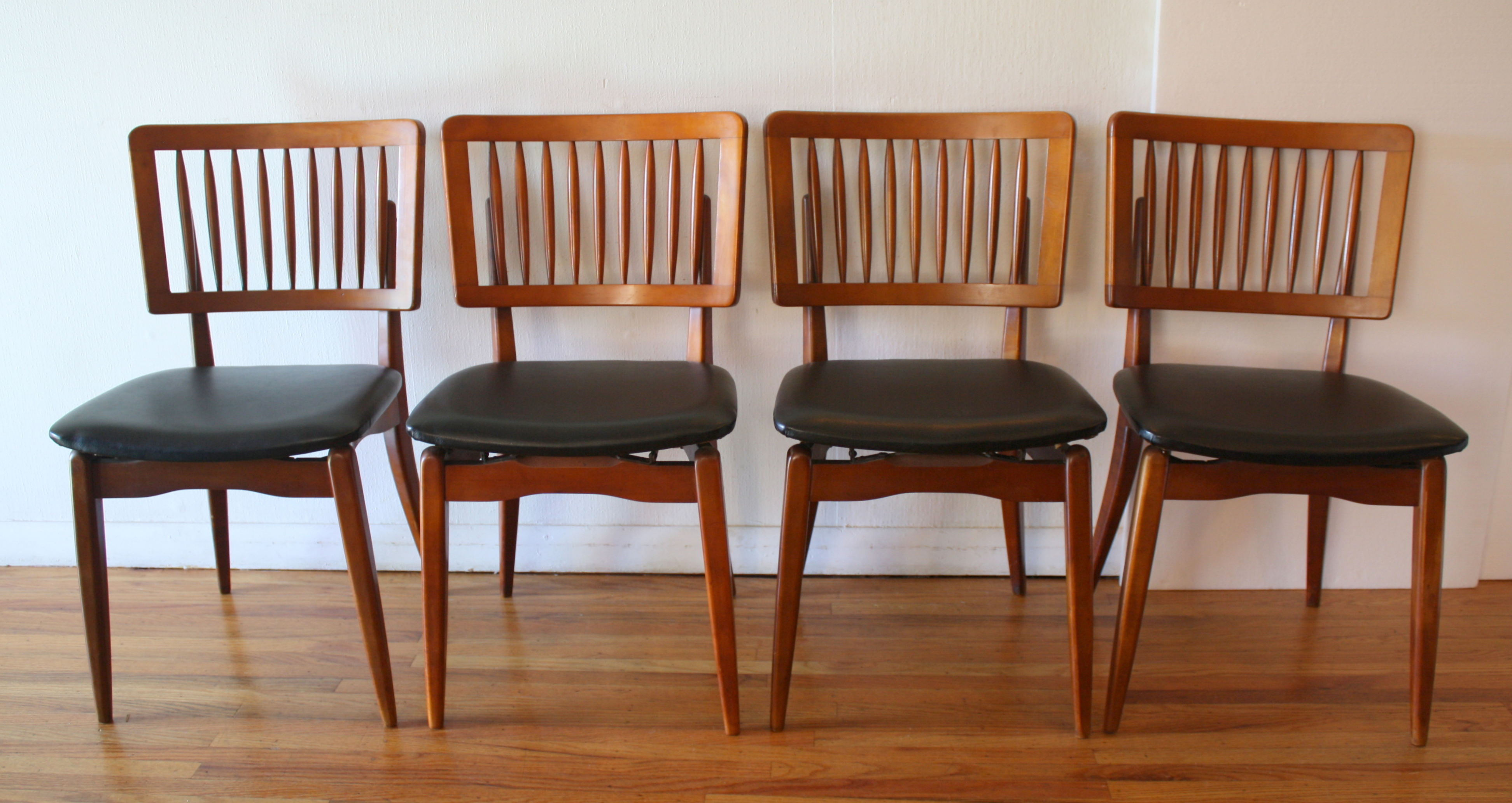 Stakmore Folding Chair Mid Century Modern Dining Chair Set By Stakmore Picked