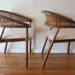 Bamboo Cane Back Chairs Chair Covers Australia Mid Century Modern Pair Of Rattan