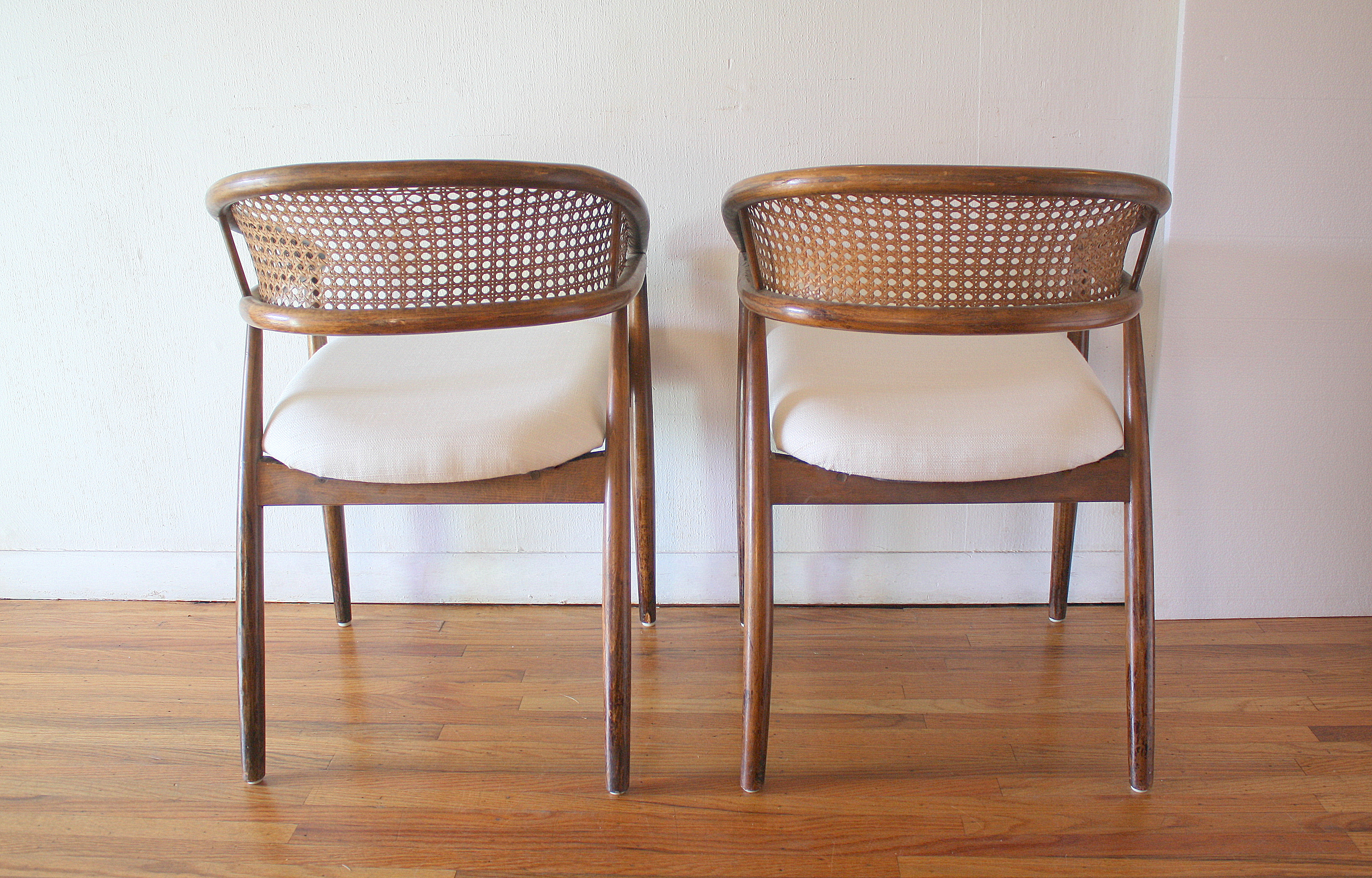 eames arm chair diy folding adirondack plans mid century modern pair of cane rattan back chairs | picked vintage