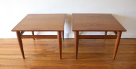 Mid Century Modern Pair of Side End Tables by Henredon ...