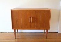 Mid Century Modern Norwegian Teak Record Cabinet and ...