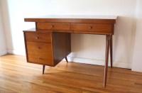 Mid Century Modern Desk with Floating Design | Picked Vintage