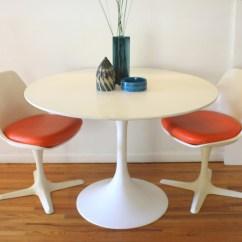 Heywood Wakefield Chairs Camping Chair Reviews Mid Century Modern Saarinen Dining Table And Pair Of Burke | Picked Vintage