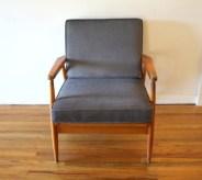 elephant gray velvet chair 1
