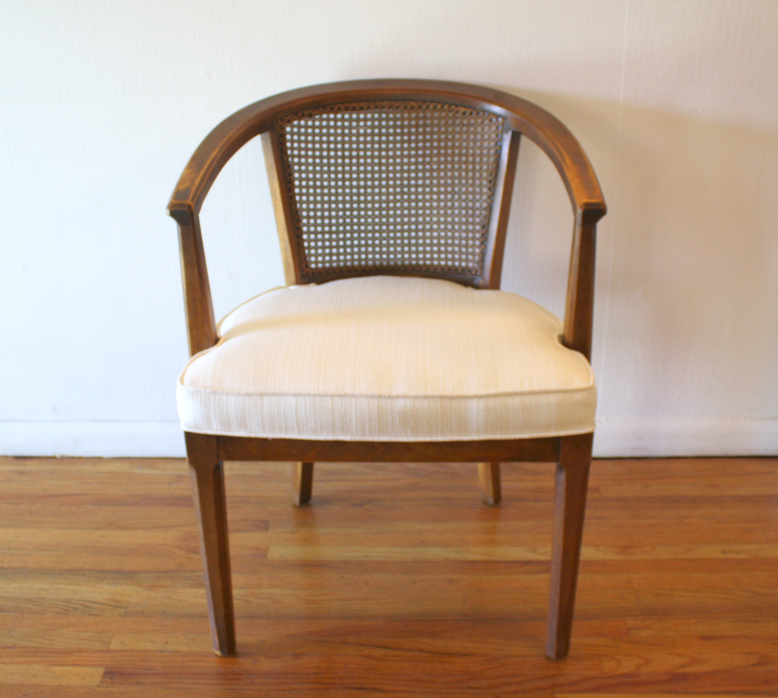 cream padded folding chairs white salon styling mid century modern arm picked vintage