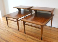 Mid Century Modern 2 Tiered Side End Tables from the Lane ...