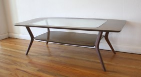 mcm glass insert coffee table 2