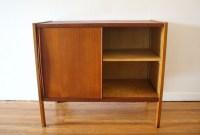 mcm teak sliding door cabinet 3 | Picked Vintage