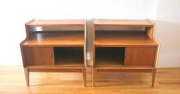pair of 2 tiered nightstands withsliding doors 3