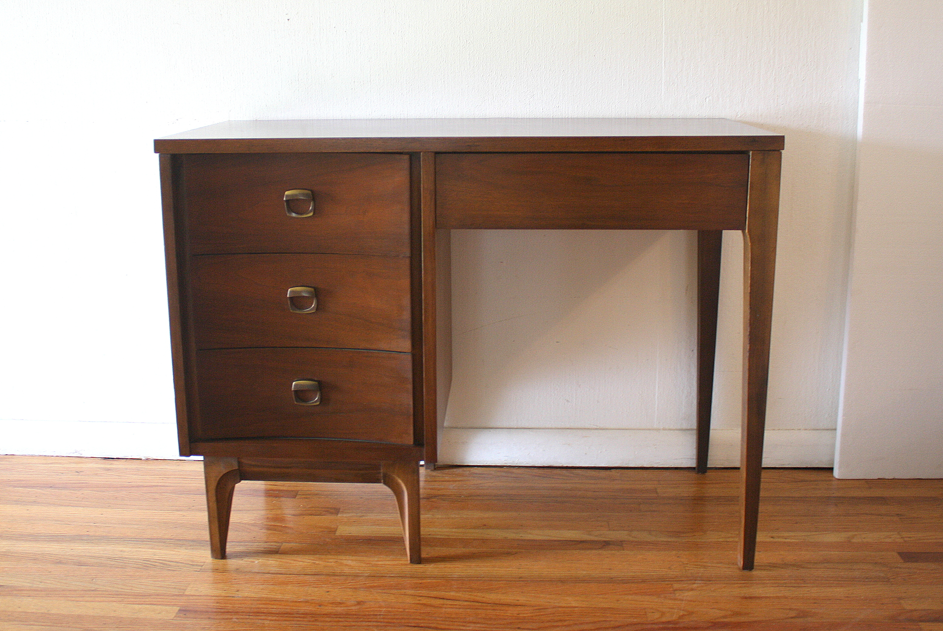 Mid Century Modern Tall Dresser and Desk by Johnson Carper