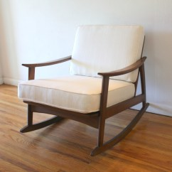 Cream Padded Folding Chairs Hanging Chair South Africa Mid Century Modern Rocker Picked Vintage
