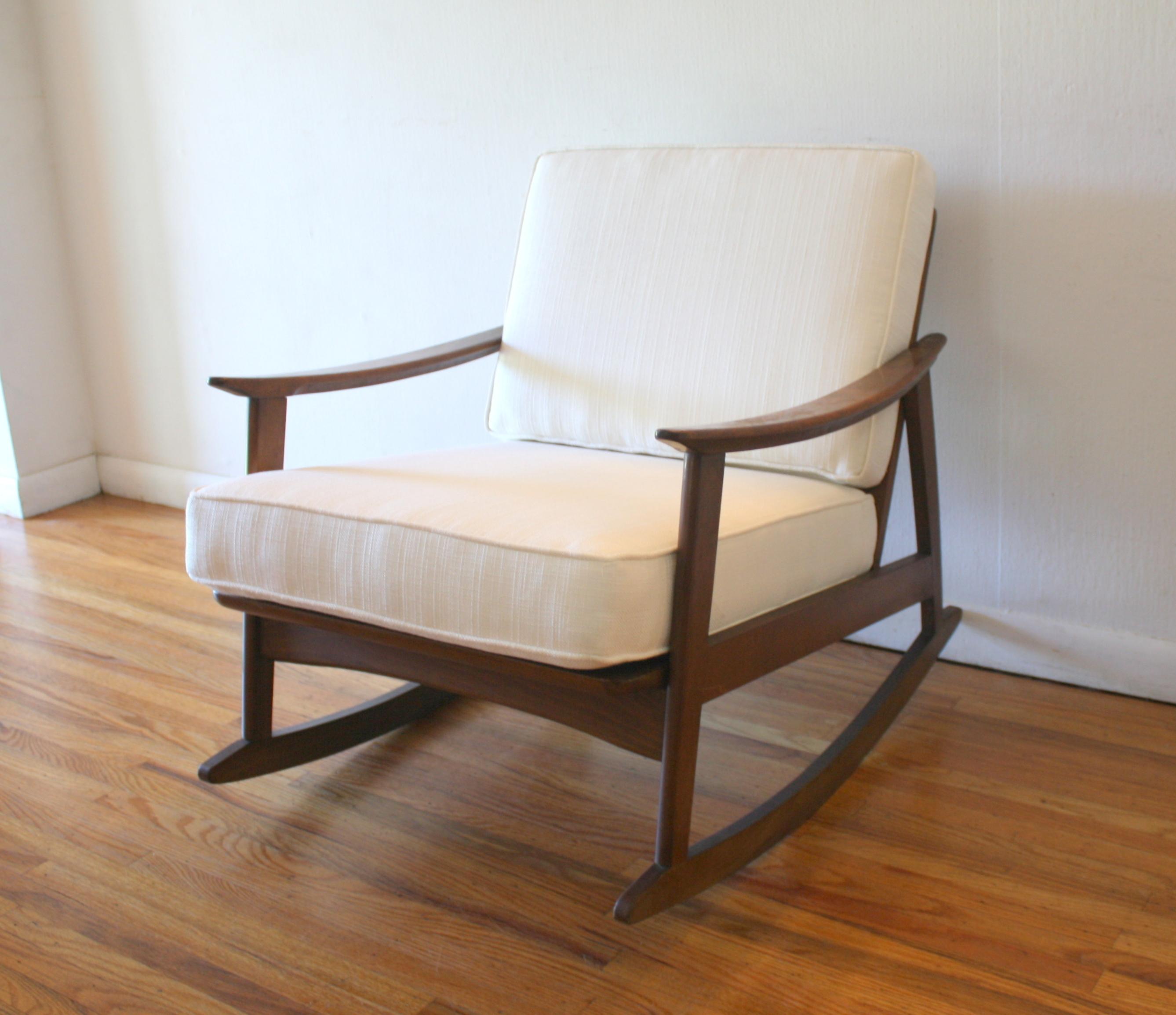 mid century rocker chair swing murah modern picked vintage