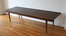 mcm long slatted bench 2