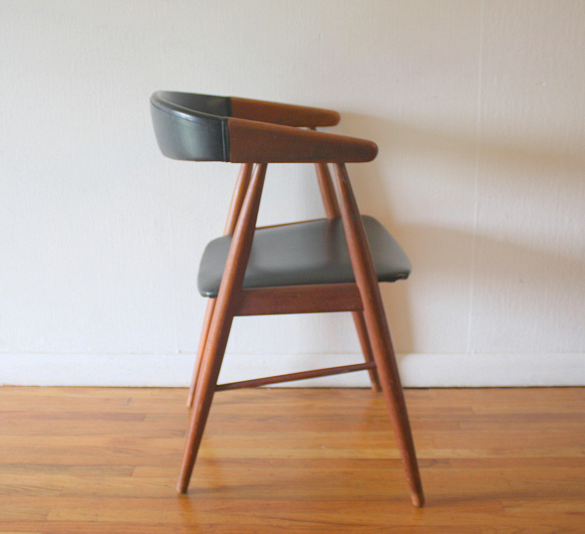 eames arm chair seven seas office mid century modern danish teak | picked vintage