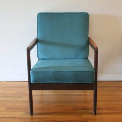 Teal Chair Cushions Vintage Womb For Sale Mcm Arm Velvet 3 Picked