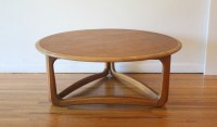 Mid Century Modern Round Coffee Table by Lane | Picked Vintage