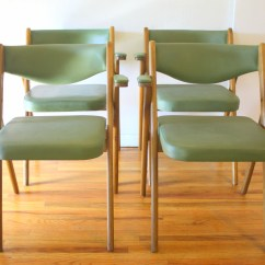 Coronet Folding Chairs Childrens Lawn Mid Century Modern Avocado By