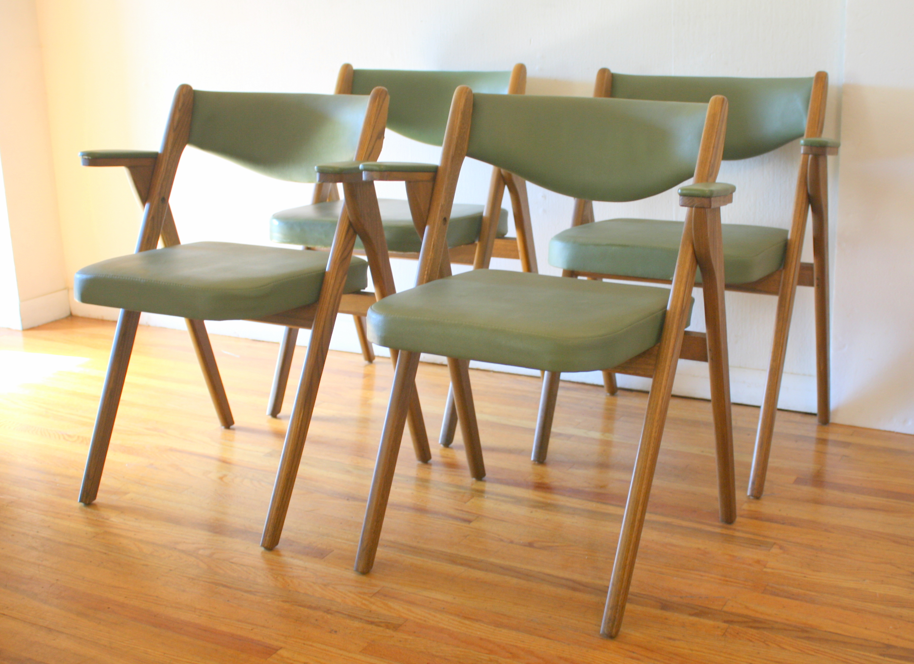 coronet folding chairs chair cover hire farnborough mid century modern avocado by picked vintage 2 jpg
