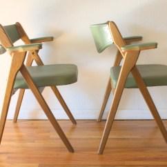 Coronet Folding Chairs Chairite Mid Century Modern Avocado By
