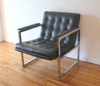 Mid Century Modern Milo Baughman Style Arm Chair | Picked ...
