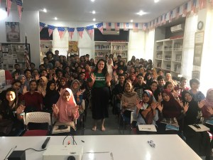 Indonesia American Spaces talk with University Students
