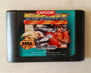 Sega Genesis Street Fighter 2 cartridge