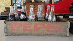 vintage-pepsi-cola-bottles-case-yellow