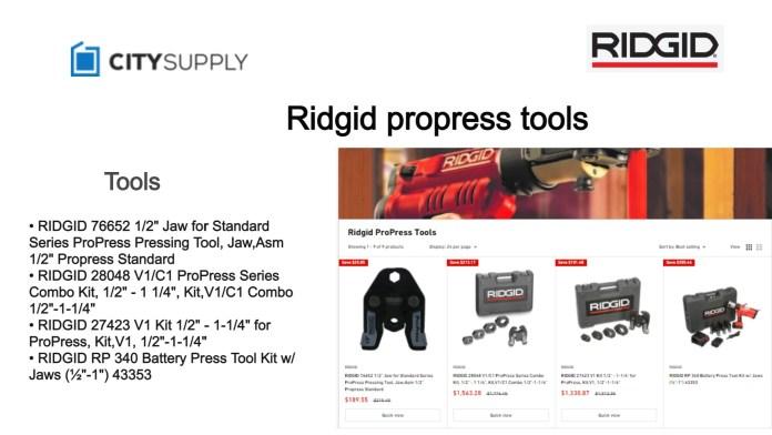 Ridgid ProPress Tools