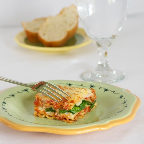 Turkey and Spinach Lasagna