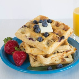 Blueberry Cheesecake Waffles