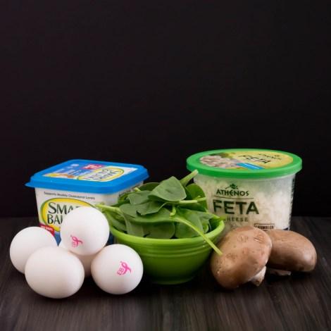 Spinach Mushroom Feta Frittata