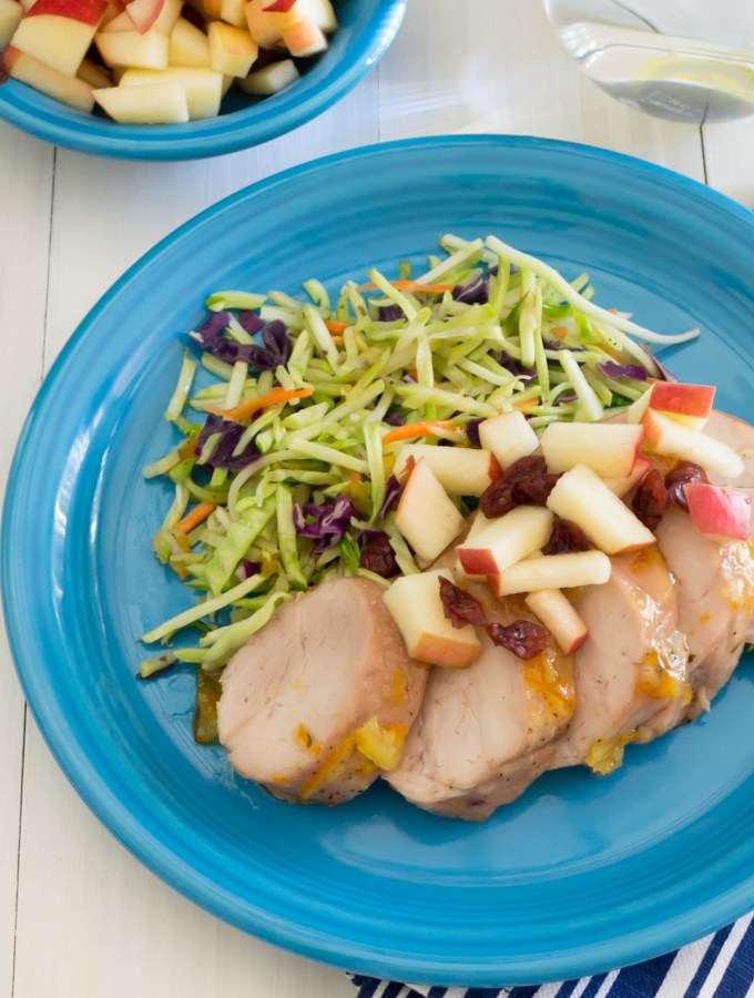 Glazed Pork Tenderloin with Apple Salsa