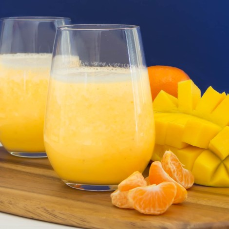 Orange Mango Smoothie...Delicious and Healthy! Starbucks made better (Copycat) | Pick Fresh Foods