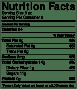 NutritionLabel-Strawberry Lemonade