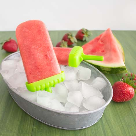 Strawberry Watermelon Popsicles