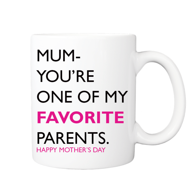 Funny Mug for Mum - Mum your one of my favourite parents happy mother's day