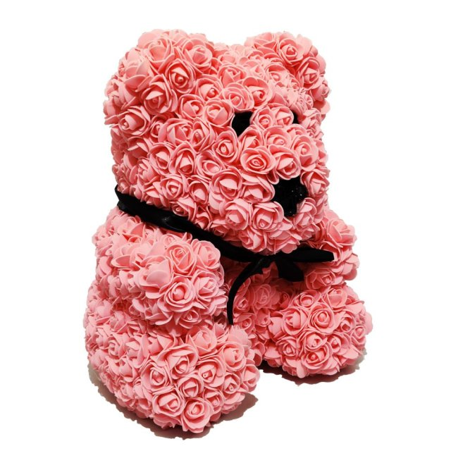 Luxury Pink Rose Bear Right