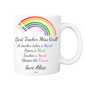 Personalised Rainbow Teacher Mug