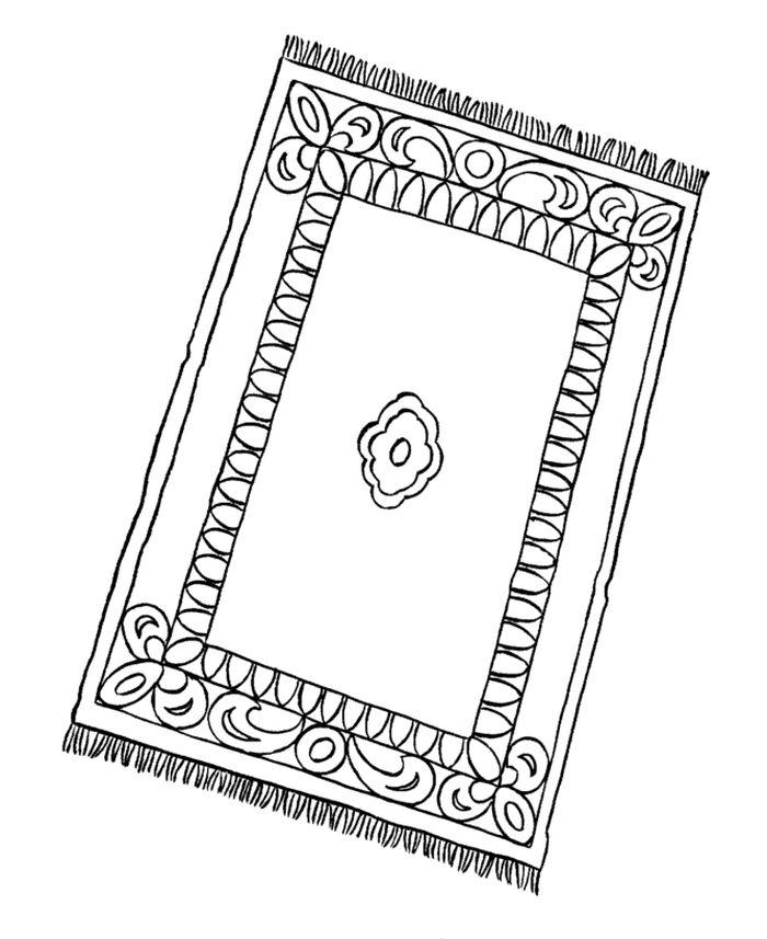 Рисунок ковра с узорами для учеников 5 класса