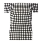 Bardot Top Gingham